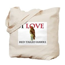 I Love Red-Tailed Hawks Tote Bag