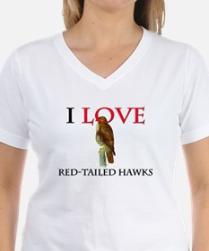 I Love Red-Tailed Hawks Shirt