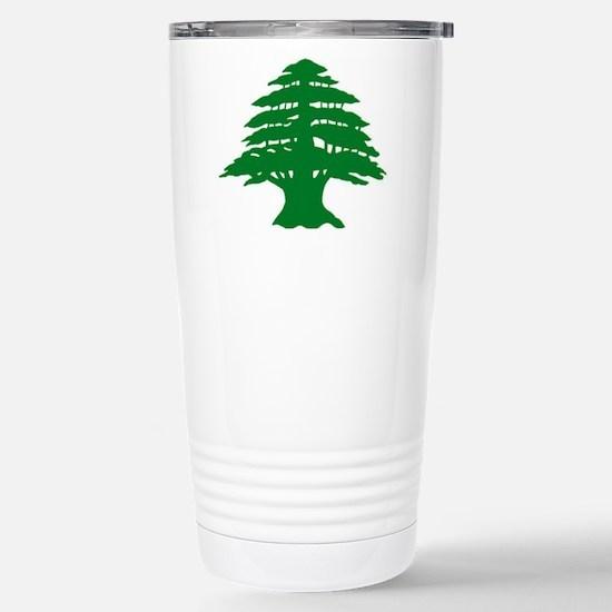 Cedar Tree of Lebanon Stainless Steel Travel Mug