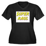 Super raul Women's Plus Size V-Neck Dark T-Shirt