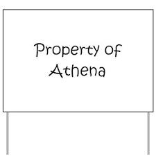 Unique Athena Yard Sign