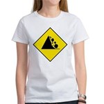 Falling Rocks Sign - Women's T-Shirt