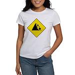 Falling Rocks Sign - Women's T-Shirt