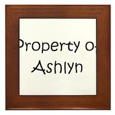 Cute Ashlyn Framed Tile