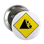 Falling Rocks Sign - Button