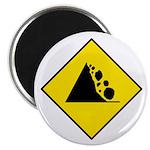 """Falling Rocks Sign - 2.25"""" Magnet (100 pack)"""