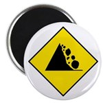 "Falling Rocks Sign - 2.25"" Magnet (10 pack)"