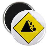 """Falling Rocks Sign - 2.25"""" Magnet (10 pack)"""