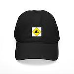 Falling Rocks Sign - Black Cap