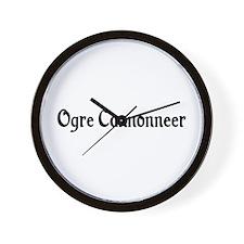 Ogre Cannonneer Wall Clock