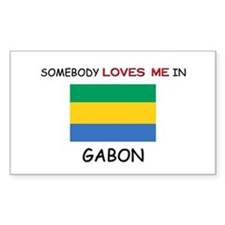 Somebody Loves Me In GABON Rectangle Decal