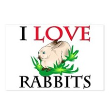 I Love Rabbits Postcards (Package of 8)