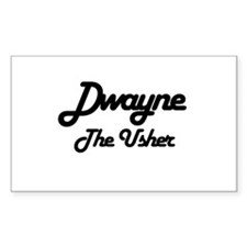Dwayne - The Usher Rectangle Decal