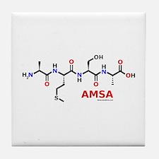 Amsa name molecule Tile Coaster