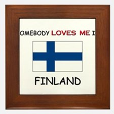 Somebody Loves Me In FINLAND Framed Tile