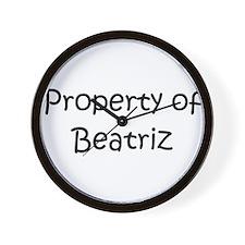 Funny Beatriz Wall Clock