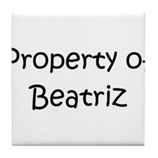 Funny Beatriz Tile Coaster