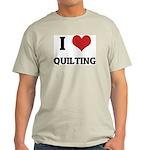 I Love Quilting Ash Grey T-Shirt