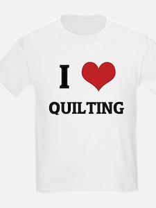 I Love Quilting Kids T-Shirt