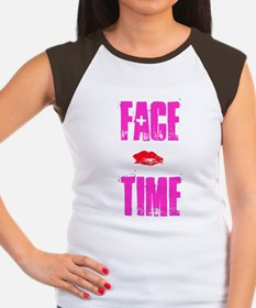 Women's FACE TIME NKOB Cap Sleeve T-Shirt Hot Pink