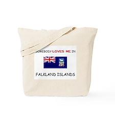Somebody Loves Me In FALKLAND ISLANDS Tote Bag