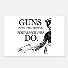 Guns don't kill people ~  Postcards (Package of 8)