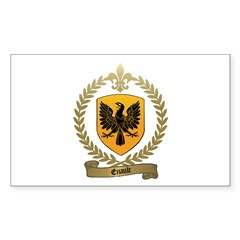 ENAULT Family Crest Rectangle Decal