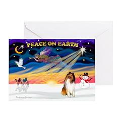 Xmas Magic & Collie Greeting Card