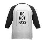 Do Not Pass Sign (Back) Kids Baseball Jersey