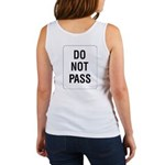 Do Not Pass Sign (Back) Women's Tank Top