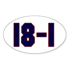 18 and 1 Oval Sticker (10 pk)