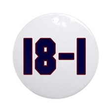 18 and 1 Ornament (Round)