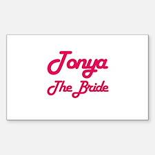 Tonya - The Bride Rectangle Decal