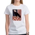 Bald Eagle and Flag Women's T-Shirt