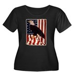 Bald Eagle and Flag Women's Plus Size Scoop Neck D
