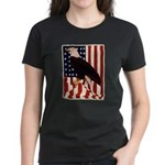 Bald Eagle and Flag Women's Dark T-Shirt