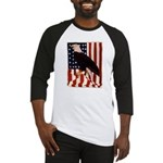 Bald Eagle and Flag Baseball Jersey