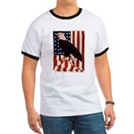 Bald Eagle and Flag Ringer T