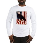 Bald Eagle and Flag Long Sleeve T-Shirt