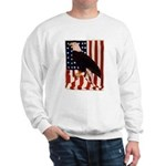 Bald Eagle and Flag Sweatshirt