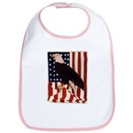 Bald Eagle and Flag Bib