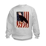 Bald Eagle and Flag Kids Sweatshirt