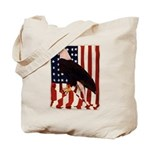 Bald Eagle and Flag Tote Bag