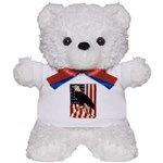 Bald Eagle and Flag Teddy Bear