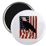 Bald Eagle and Flag Magnet