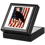 Bald Eagle and Flag Keepsake Box