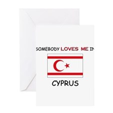 Somebody Loves Me In CYPRUS Greeting Card