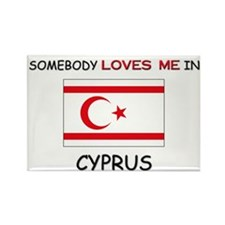 Somebody Loves Me In CYPRUS Rectangle Magnet