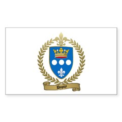 DUPUY Family Crest Rectangle Decal