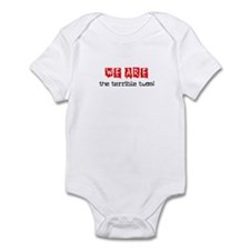 WE ARE THE TERRIBLE TWOS Infant Bodysuit